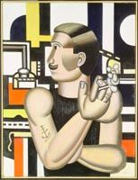 Fernand Leger's The Mechanic (A long time personal icon.) 1920 see https://www.gallery.ca/en/see/collections/artwork.php?mkey=6966