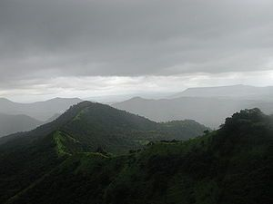 Monsoon in the Westghats in Maharashtra, India