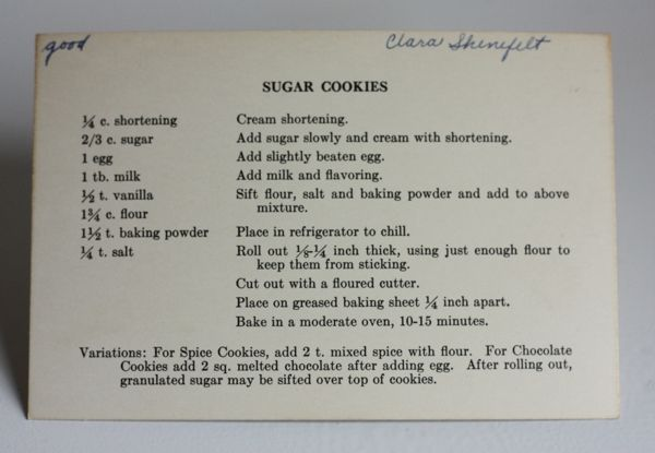 Some cookie recipes to try.