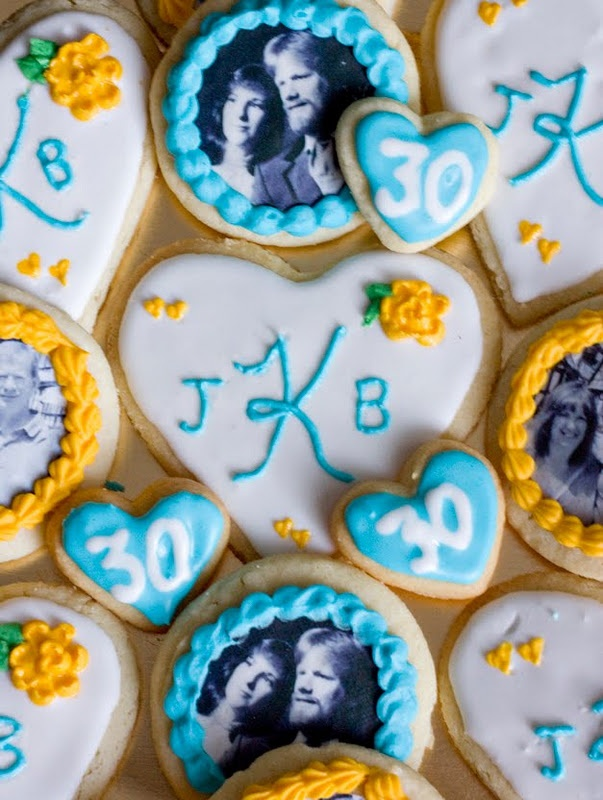 Photo Transfer Anniversary Cookies! Gives recipes and how to get the transfer!