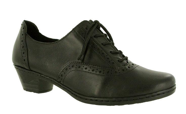 Rieker 56920 Ladies Brogue Detail Lace Up Dress Shoe - Robin Elt Shoes  http://www.robineltshoes.co.uk/store/search/brand/Rieker-Ladies/ #Autumn #Winter #AW13