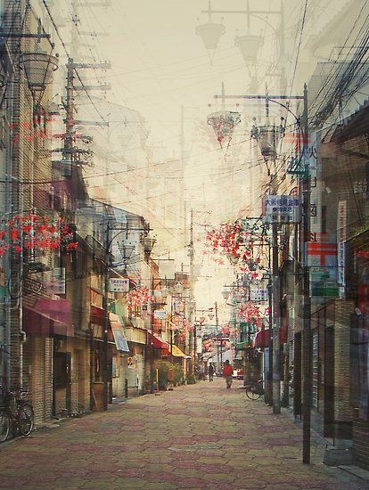 Photography by Stephanie Jung of the beautiful Japanese city Osaka.: Photos, Stephanie Jung, Cityscapes Photography, Inspiration, Japan, Cities, Multiplication Exposure, Digital Art, Urban Landscape