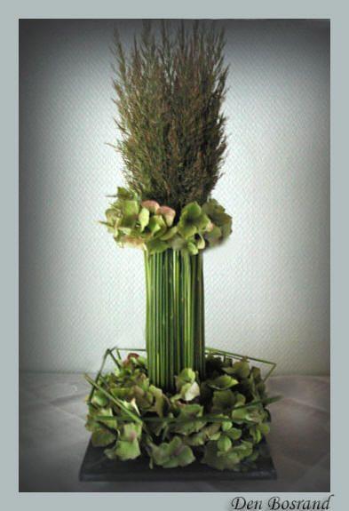 Bloemschikken bloemstuk met siergras maken bloemstukjes met hortensia