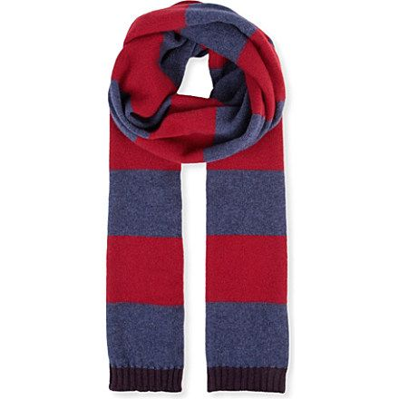 PAUL SMITH ACCESSORIES Simple Simon striped scarf (Navy