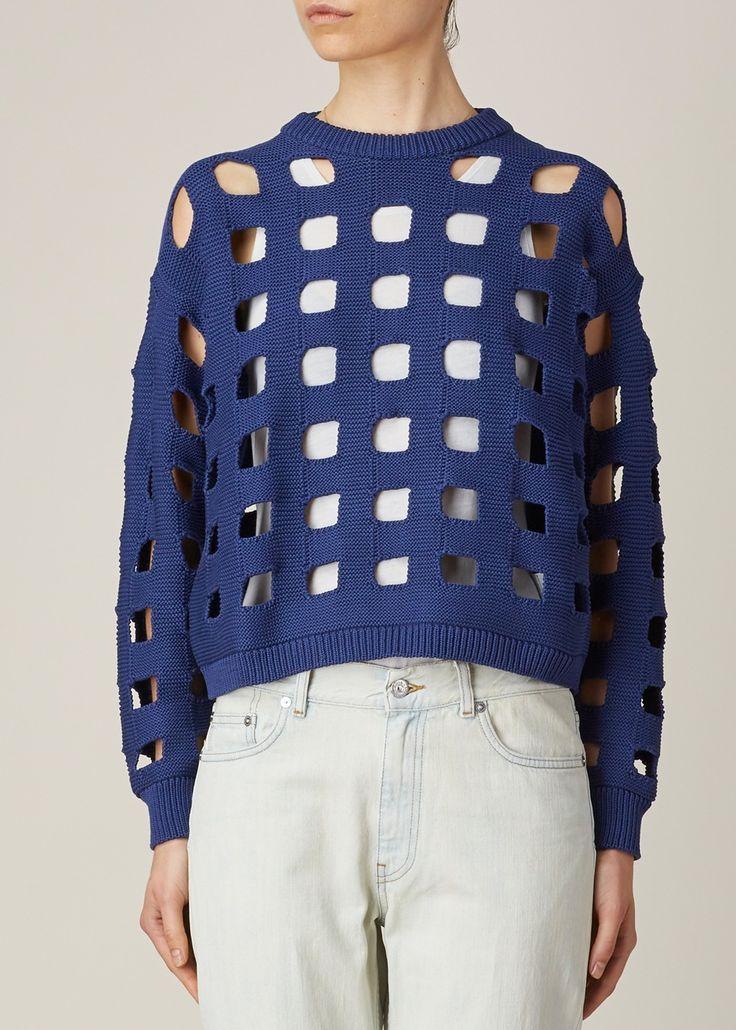 Maison Martin Margiela Square Knit Pullover (Blue)