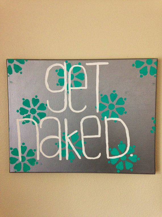 Bathroom Canvas Art Via Etsy