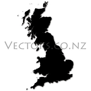 Blank Vector Map of Great Britain