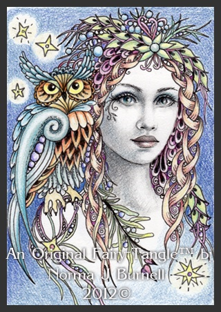 Starla & Griffon Fairy Tangle by Norma J. Burnell.