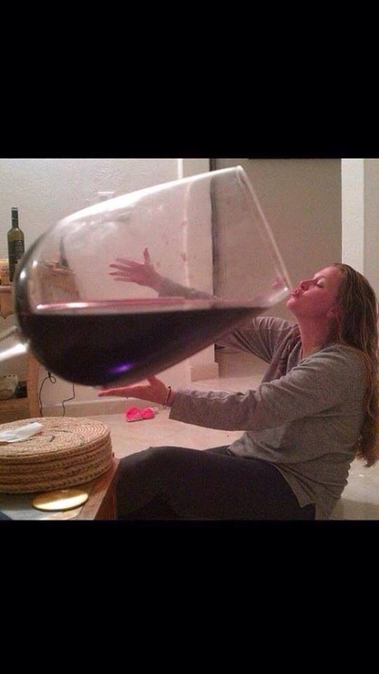 This Has Got To Be The Biggest Wine Glass We 39 Ve Ever Seen