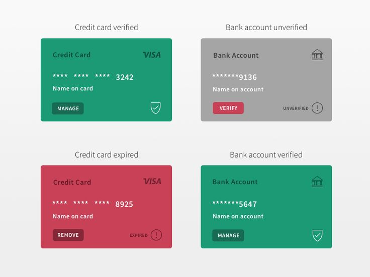 Paymentcard types