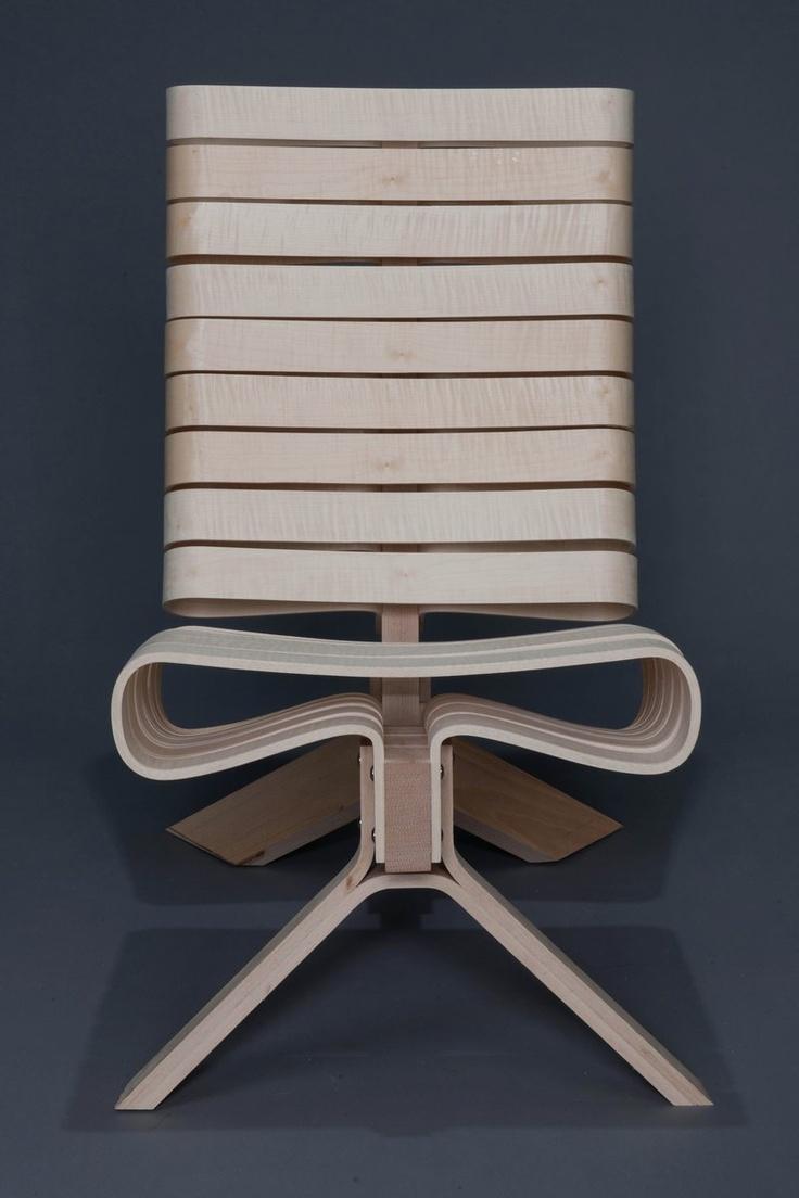 easy chair made of beech veneer and maple veneer co seigle design