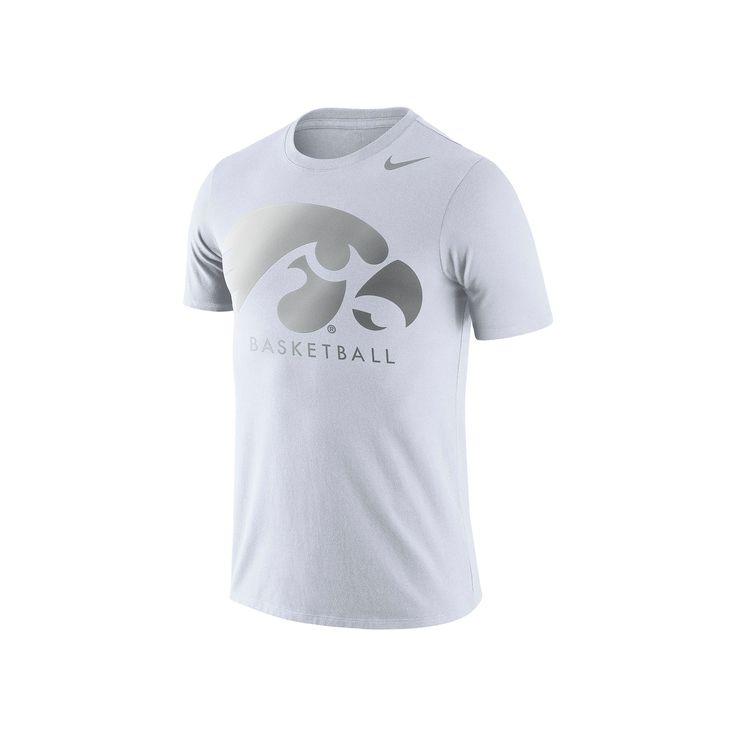Men's Nike Iowa Hawkeyes Basketball Tee, Size: Small, White