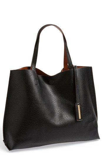 Bag for school (Street Level Reversible Faux Leather Tote Wristlet (Juniors) available at #Nordstrom)