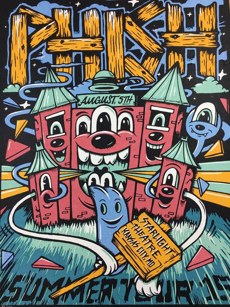 Phish - 2015 Mike Greg Poster Kansas City Starlight Theatre