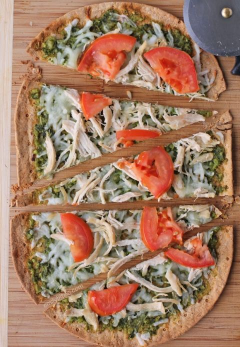 Chicken Pesto Flatbread