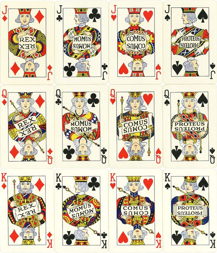 Carnival Playing Cards, designed by Harry D. Wallace (1892-1977) and published in 1925 by the Carnival Playing Card Co., New Orleans