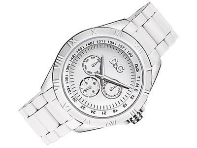 Wunderschöne weisse Uhr von D Vielleicht ein Weihnachtsgeschenk?