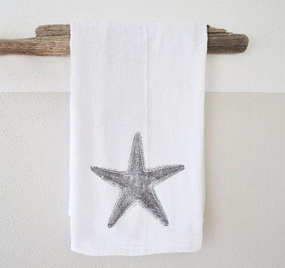 Printed hand towel  printed tea towel  beach by saltyandsandy, $17.00