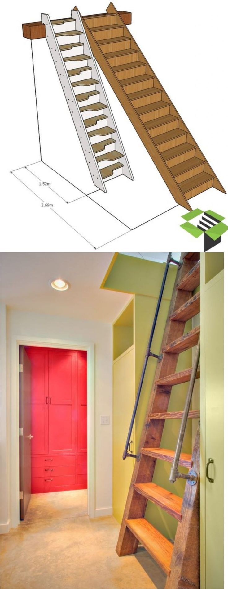 37+ The Most Creative Attic Stairs Ideas for Modern Urban
