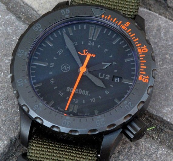 Solebox x Sinn U2 Diving Watch, not into phantom style usually but this is hot. Sinn always reminds me of the Porsche styling