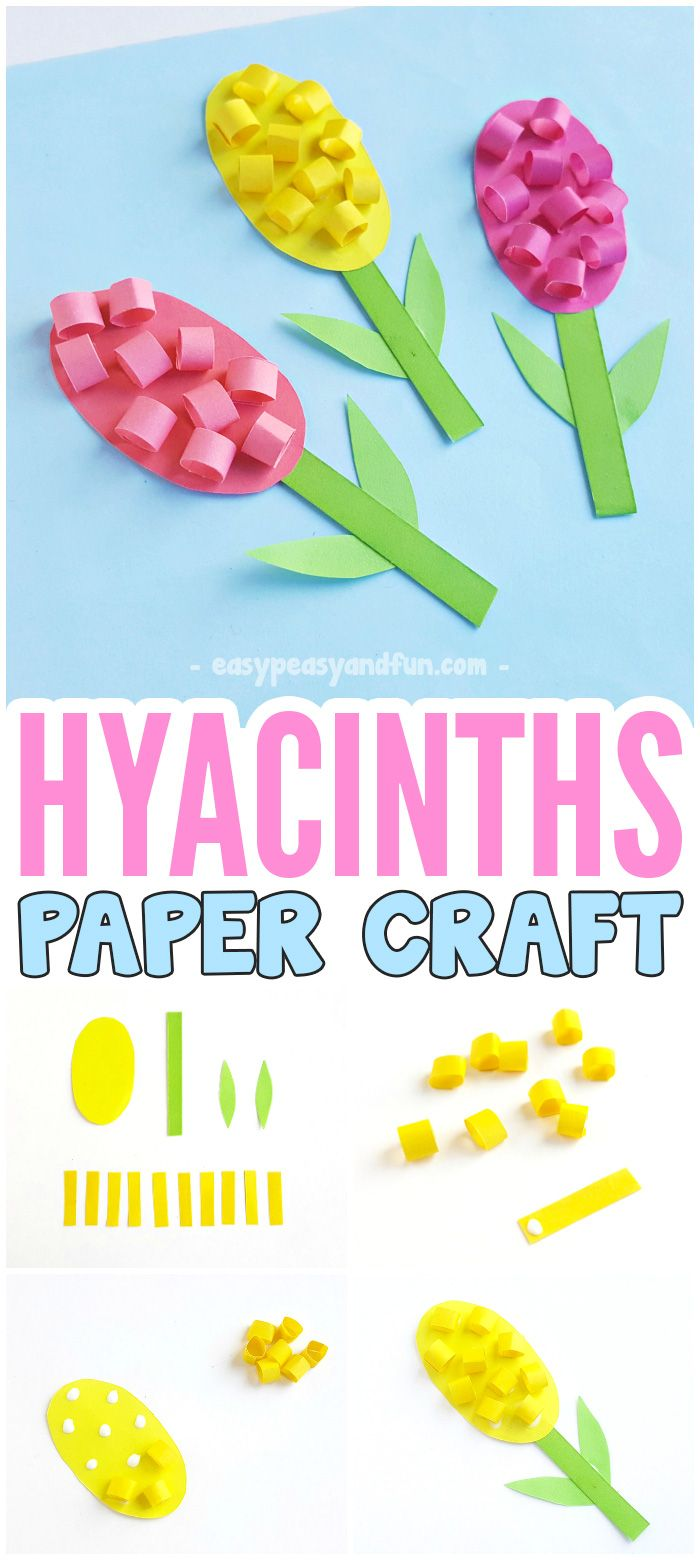 Paper Hyacinths Flower Craft For Kids #flowercrafts #papercrafts #craftsforkids