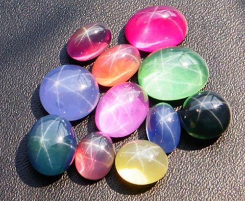 and the colors just go on and on   star sapphire gem