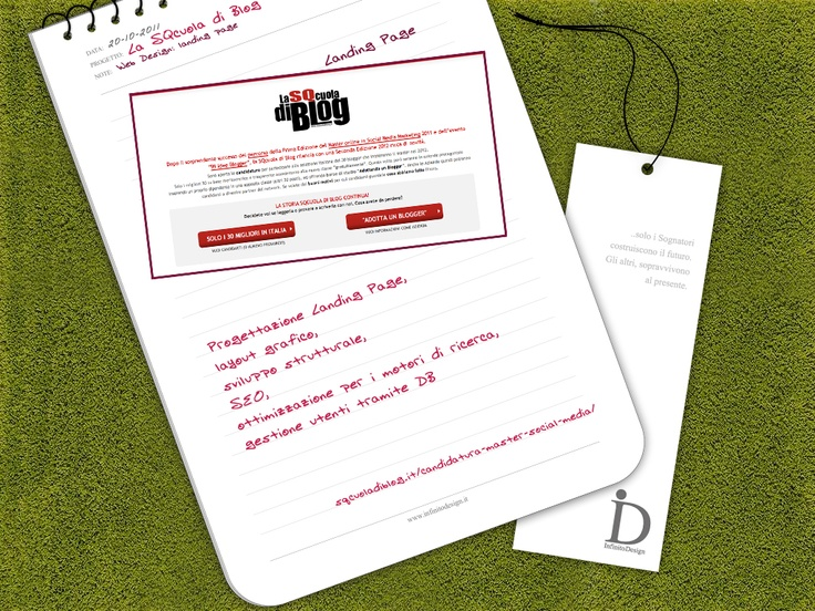 La SQcuola di Blog - Candidatura 2° Edizione del Master    Online: http://sqcuoladiblog.it/