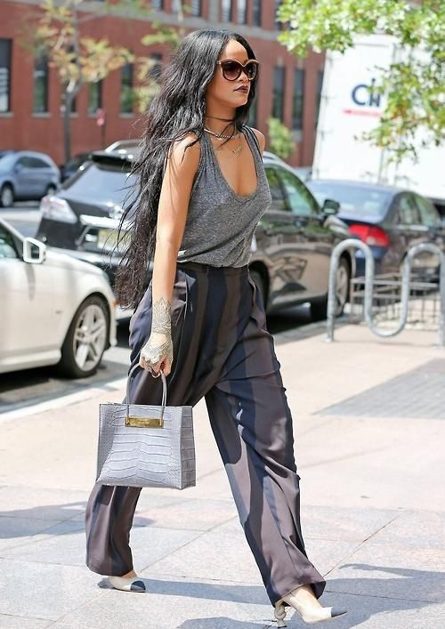 """Rihanna steps out braless as she heads to a fragrance company for a meeting on Wednesday (August 20) in New York City.  The 26-year-old entertainer recently revealed her words to live by, which happens to be a quote from Leonardo DiCaprio!  PHOTOS: Check out the latest pics of Leonardo DiCaprio  """"'Avoid obviousness.' That is a quote by Leonardo DiCaprio. That's what makes you create something, that's the excitement, that's the thrill."""" RiRi told Elle's September issue during an interview."""