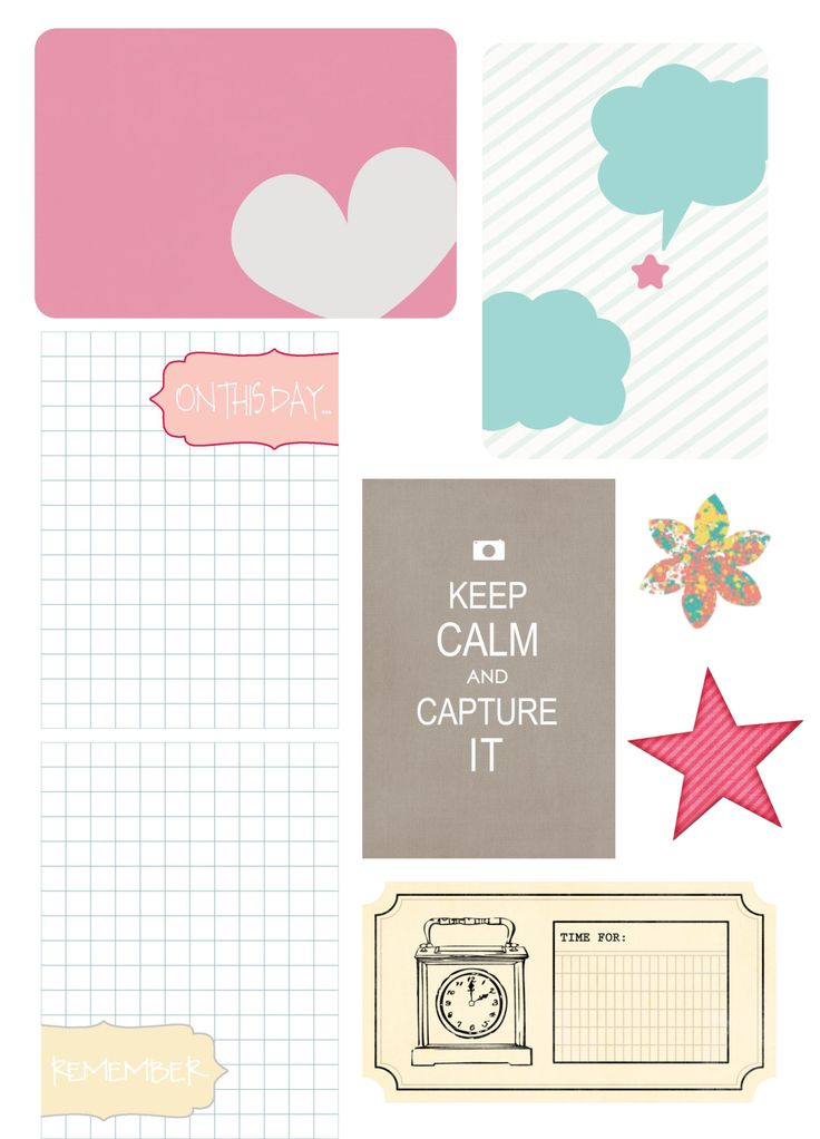 Free Printable Journaling Elements {right click to save}