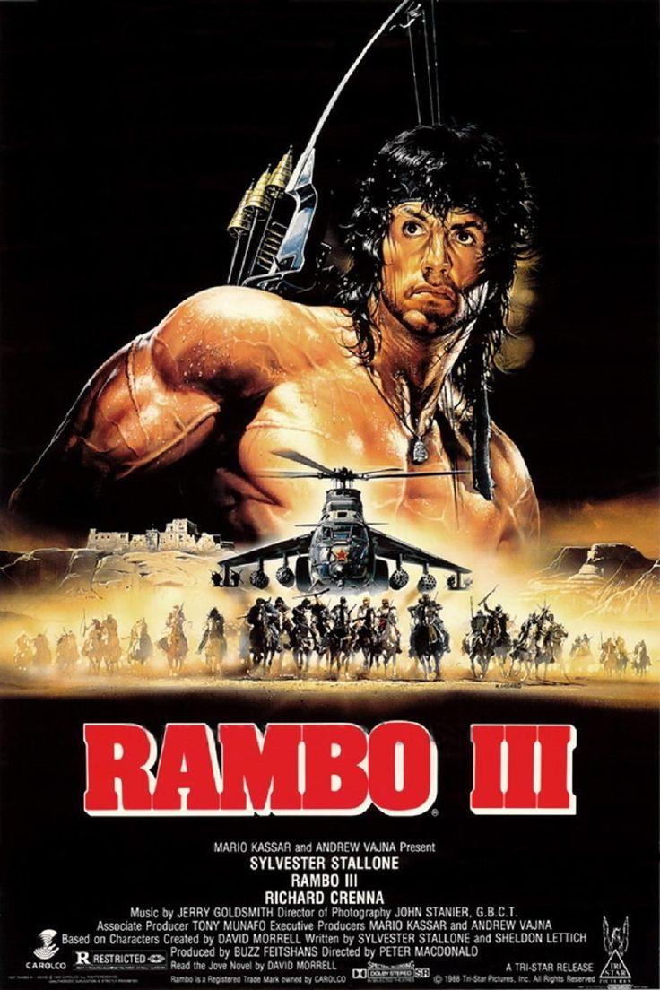 Rambo  (1988) - Rambo: A Vingança do Herói (1985)Título Original: Rambo: First Blood Part I I. Duração: 100: minutos.  Diretor: George P. Cosmatos.  Rambo, veterano do Vietname, regressa à selva para descobrir prisioneiros americanos, mas é atraiçoado pelo comando da operação e terá de escapar à sua maneira.