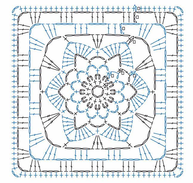 Mejores 501 imágenes de croche square en Pinterest   Motivo de ...