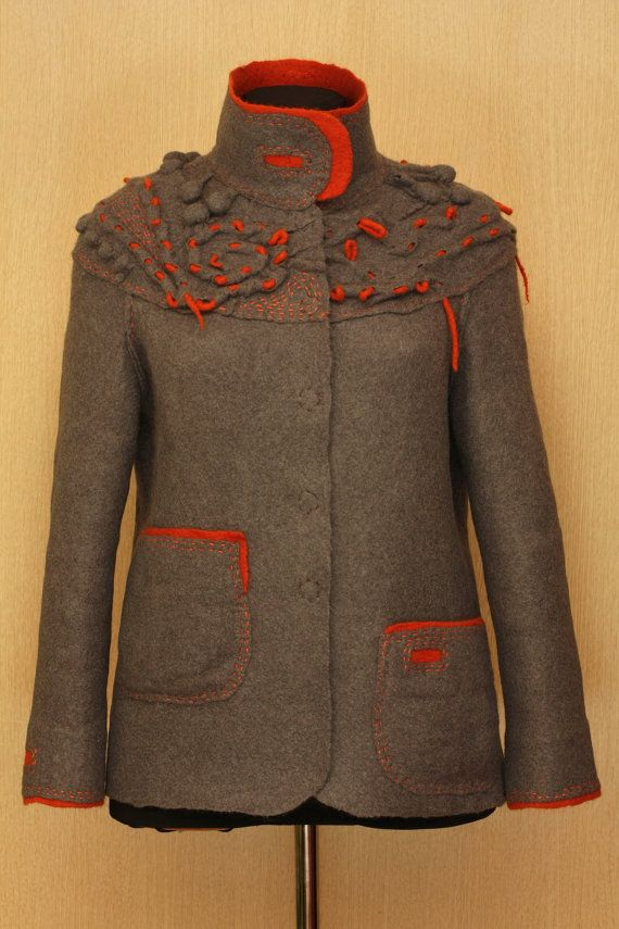 Basic Accent / Felted Clothing / Jacket by LybaV on Etsy, $500.00 too cute for words, ships direct from the artist in Russia