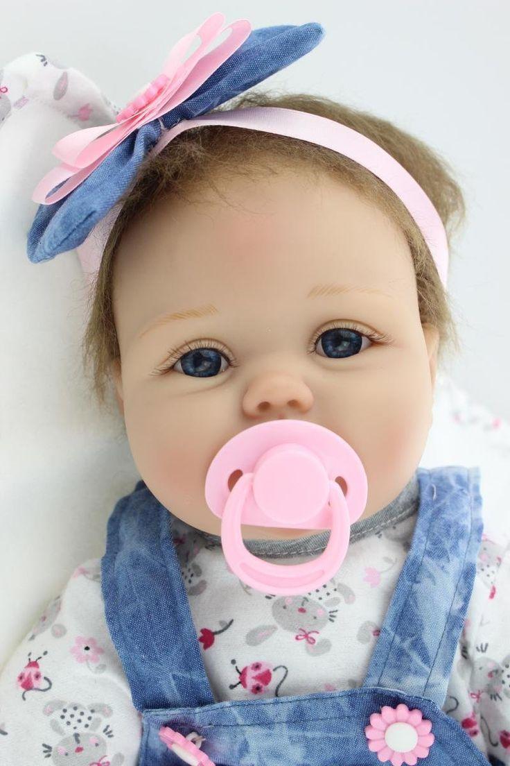 NPK Morbido Silicone Bambola Reborn Bambino 22inch 55 Centimetri Magnetica Bocca Bella Realistica Ragazzo Sveglio Cuore Ragazza Giocattolo Baby Doll: Amazon.it: Giochi e giocattoli