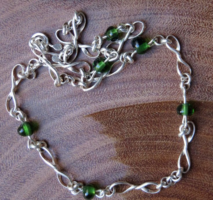Silver and Green by PeriaptJewellery on Etsy
