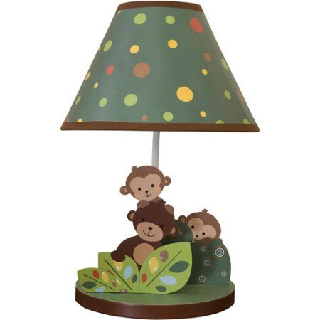 Bedtime Originals by Lambs & Ivy - Lamp with Shade & Bulb, Curly Tails, Multicolor