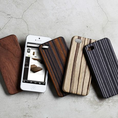 Check out what's on sale at TouchOfModern // These slight iPhone cases are a great synthesis of classic design and new technology. They're made of fine wood and fortified with composite fiberglass to create a natural looking case with supernatural strength.