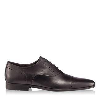Pantofi barbati negri 2877 piele naturala