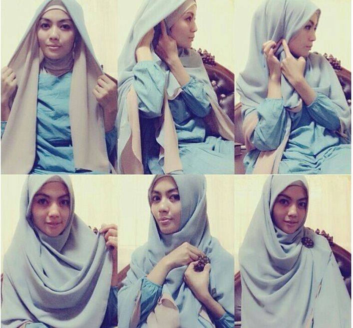 This is a full chest coverage hijab tutorial beautifully layered and simply pinned with a brooch. You can create it in few minutes with either maxi or square scarf, Here are the steps to this beautiful look. 1- Place the…