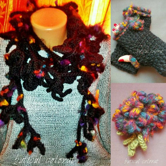 Check out this item in my Etsy shop https://www.etsy.com/listing/262343308/warm-crocheted-set-infinity-loop-scarf