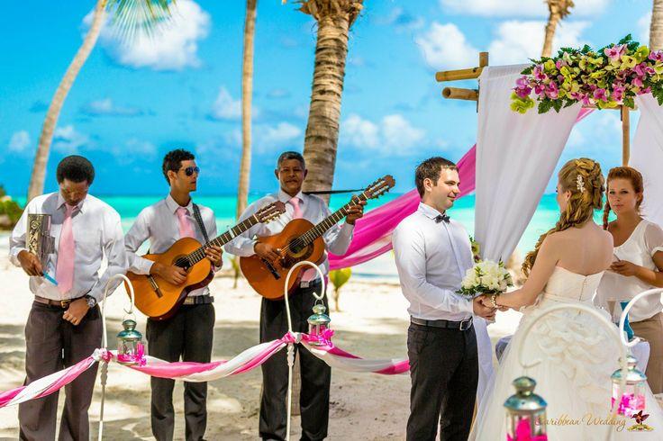 Wedding ceremony at Cap Cana beach Photo by http://nikvacuum.com