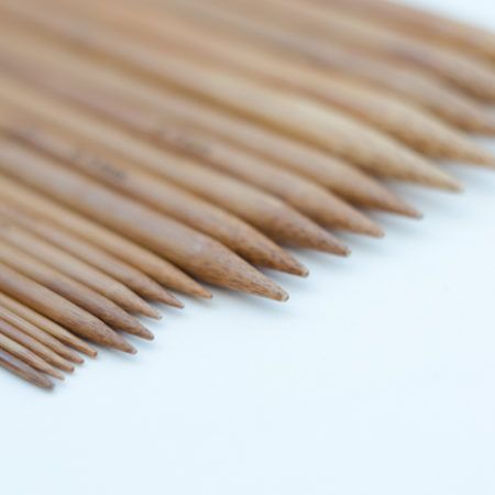 Double Pointed Bamboo Knitting Needles – 20cm