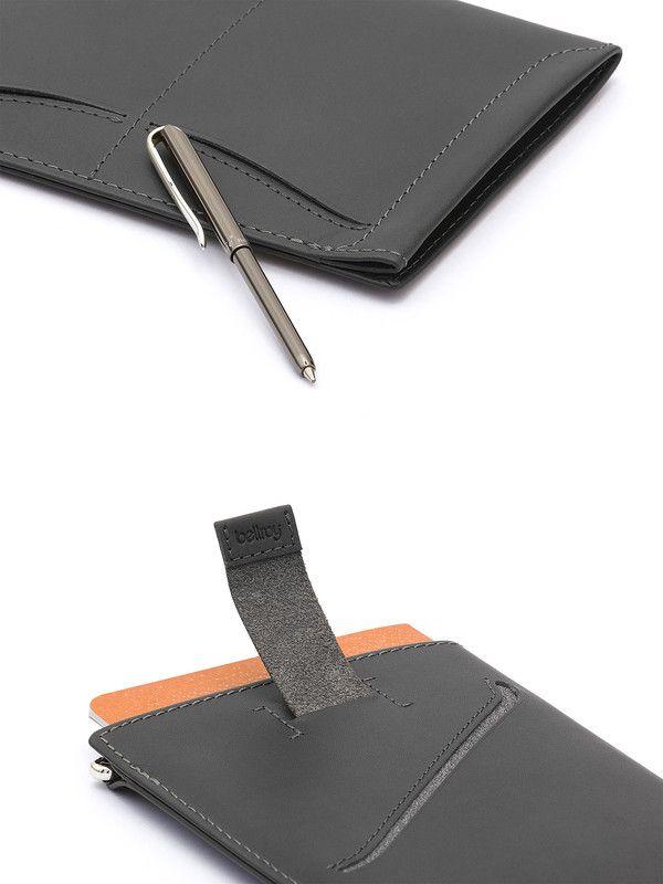 Grey Leather passport case