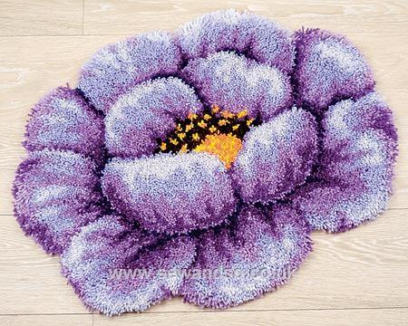 Lilac Flower Latch Hook Kit