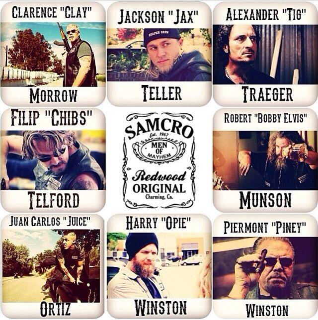 SAMCRO. sons of anarchy motorcycle club redwood original