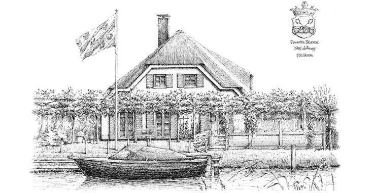pen drawing house Eduard Moes