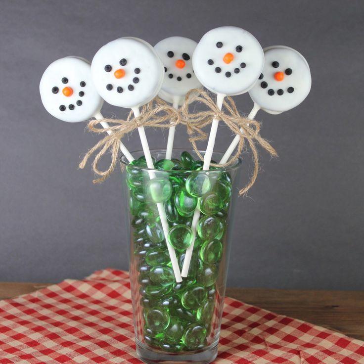 Muñecos de nieve con galletas Oreo
