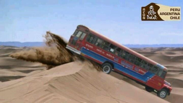Bus de la empresa El Rápido es la gran sorpresa del Rally Dakar XD #Dakar2013