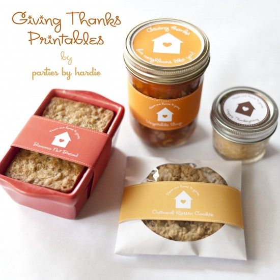 cute free labels for homemade food gifts ...I'll be using these for sure!