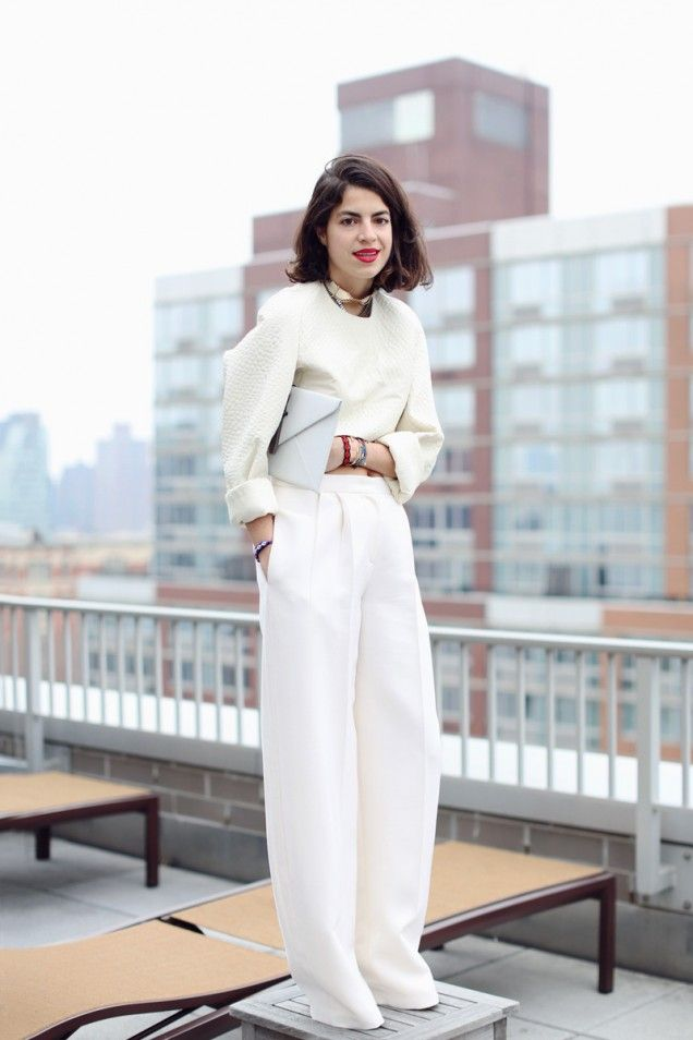 Love this all over winter white with a red lip. so glam!