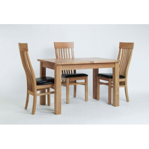 Cambridge Oak Small Extending Dining Table CO6117  www.easyfurn.co.uk